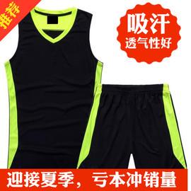 运动套装男士夏季跑步服吸汗训练透气无袖背心套装宽松大码健身服