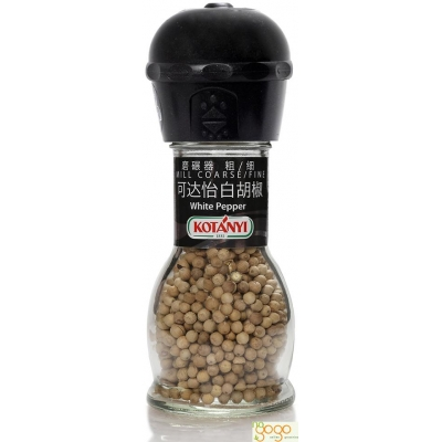 可达怡白胡椒(带磨碾器)Kotanyi White Pepper Mill Coarse 52g