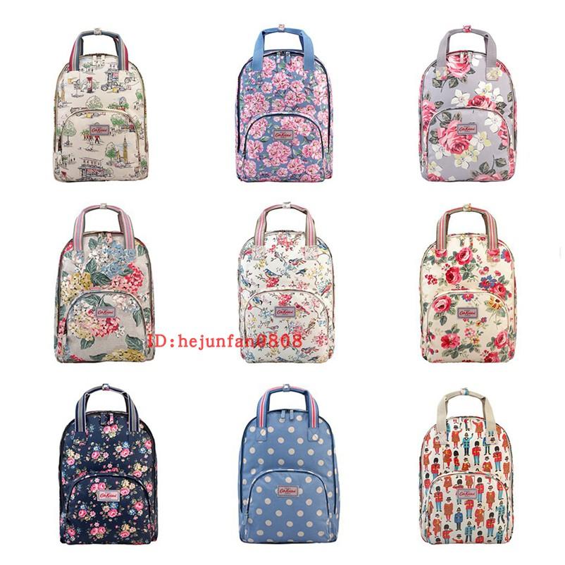 Genuine cath Kidston bag casual backpack canvas printing backpack waterproof floral laptop bag