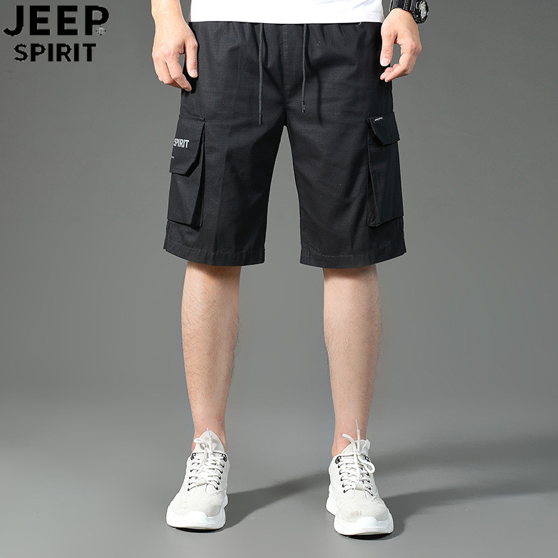 2020 mens summer outdoor casual pants mens work clothes Multi Pocket camouflage Capris beach pants