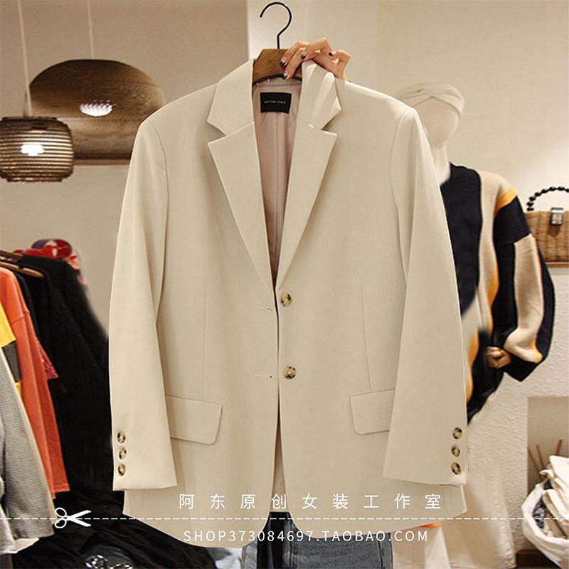 西装外套女韩版宽松2021春秋新款设计感小众气质英伦风休闲小西服
