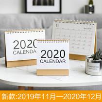 2019-2020年简约台历日程计划备忘本桌面翻页记事农历日历批发