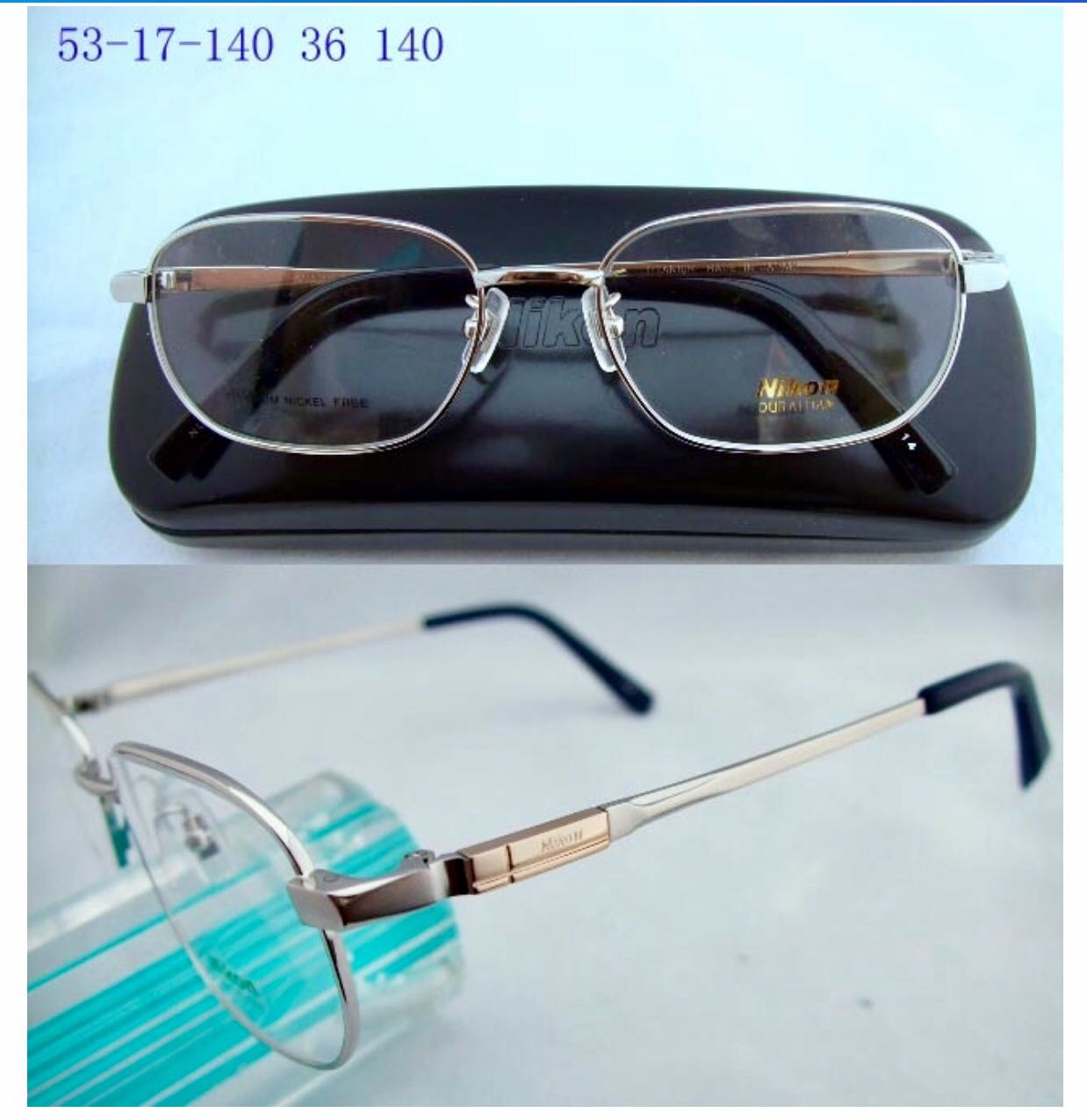 Business mens pure titanium metal spectacle frame mens full frame frame myopia flat light presbyopia professional customized 8058