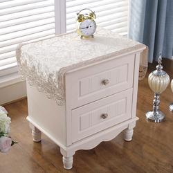 床头柜盖布欧式立式空调电视防尘罩蕾丝卧室长方形盖巾方巾斗柜