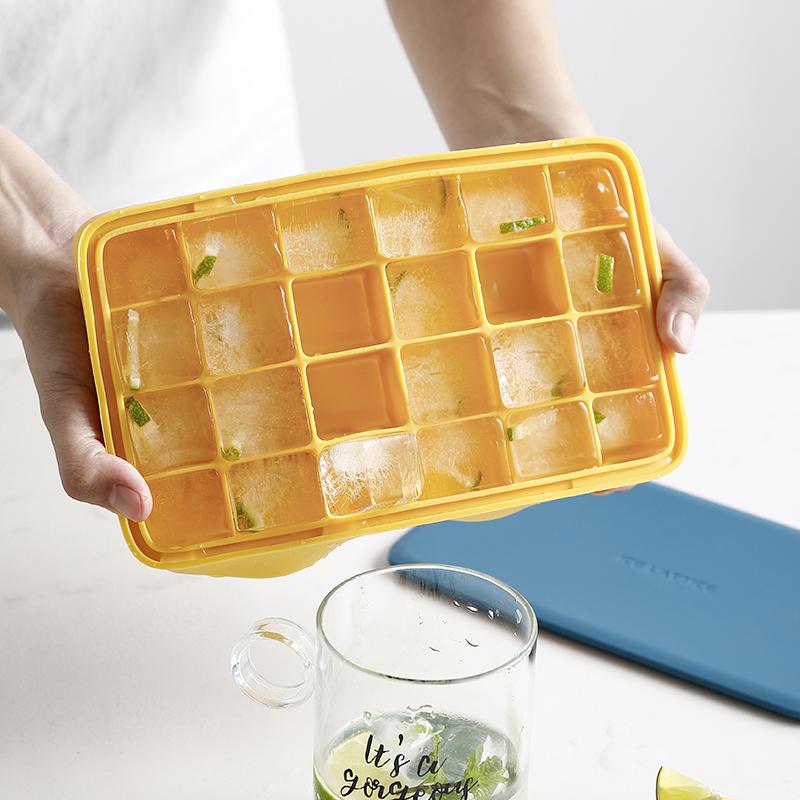 熊谷组创意硅胶冰格制冰盒带盖家用辅食自制速冻器冰箱冻冰块模具10月12日最新优惠