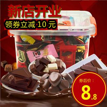 【3斤实惠】黑巧克力白巧克力夹心喜糖年货糖果零食散装1500-200g
