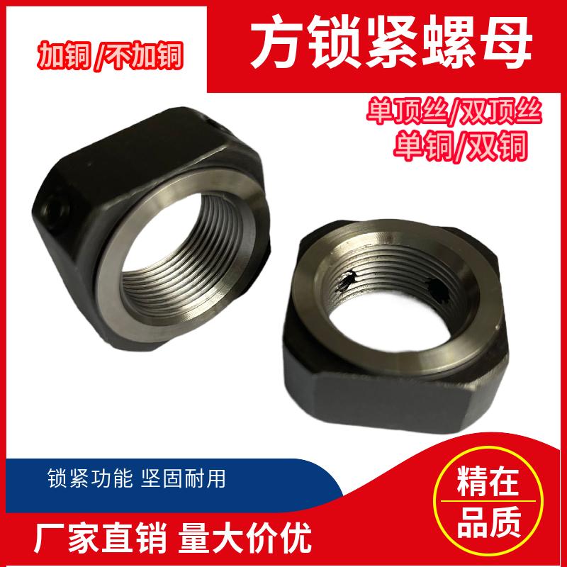 ネジ支持ホルダ型ロックナットの四角形のネジナットの締め付け部品のトップ糸が滑り止めを防ぎます。