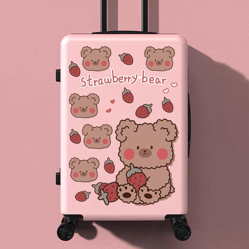 中國代購|中國批發-ibuy99|拉杆箱|行李箱贴纸全贴整张网红ins风草莓小熊行李箱贴纸旅行箱拉杆箱皮
