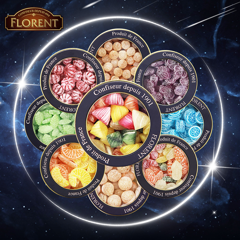 French imported candy filoren 12 constellations sugar fruit Mint moistening throat hard candy gift box snacks Christmas