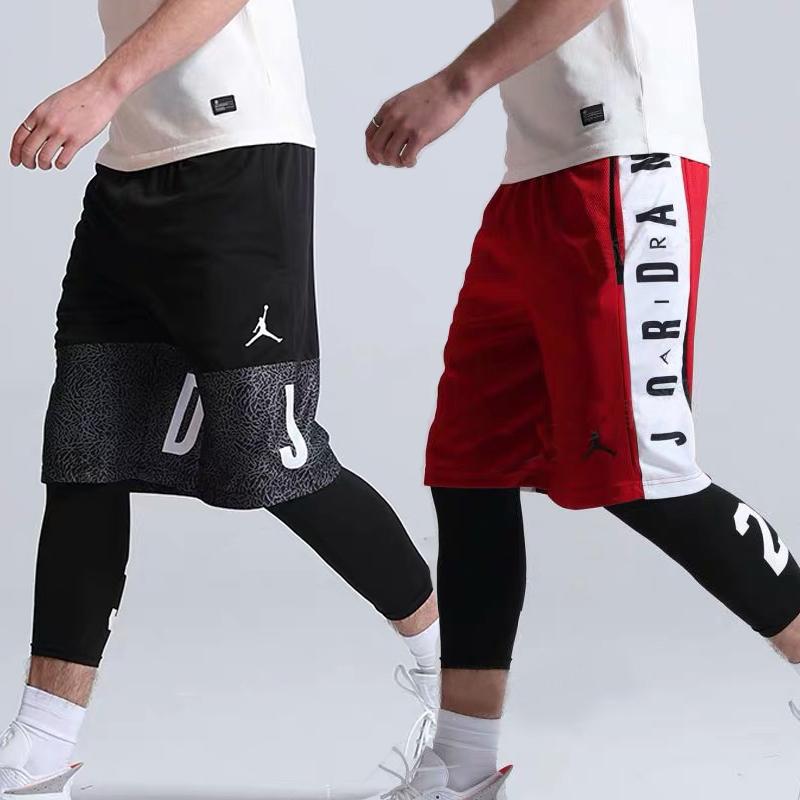 篮球裤aj23号宽松过膝训练男短裤