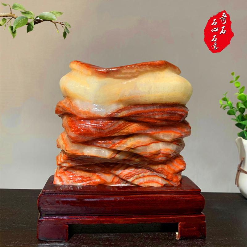 Hot selling pork, pork, colorful meat, stone, stone, jade, rare stone ornaments, zhenzhaizhaocai, 2020 sales promotion
