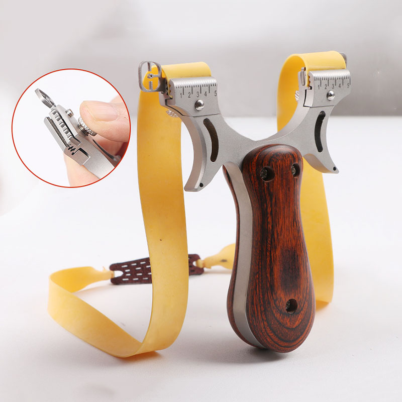 Powerful Slingshot Hunting High Quality Stainless steel Rubb