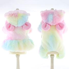 狗狗衣服秋冬装猫衣服泰迪比熊公主裙小型犬可爱情侣四脚棉衣宠物