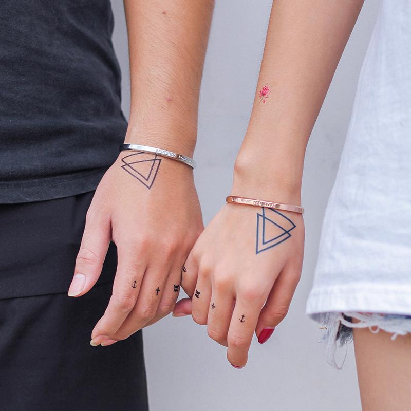 圣罗兰ysl欧美情侣手镯手环一对开口刻字礼物饰品BSX227