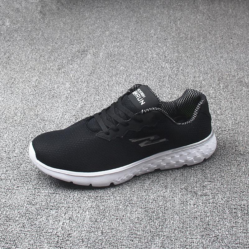 夏季网面透气软底减震休闲运动鞋透气轻便舒适跑鞋防滑耐磨健步鞋