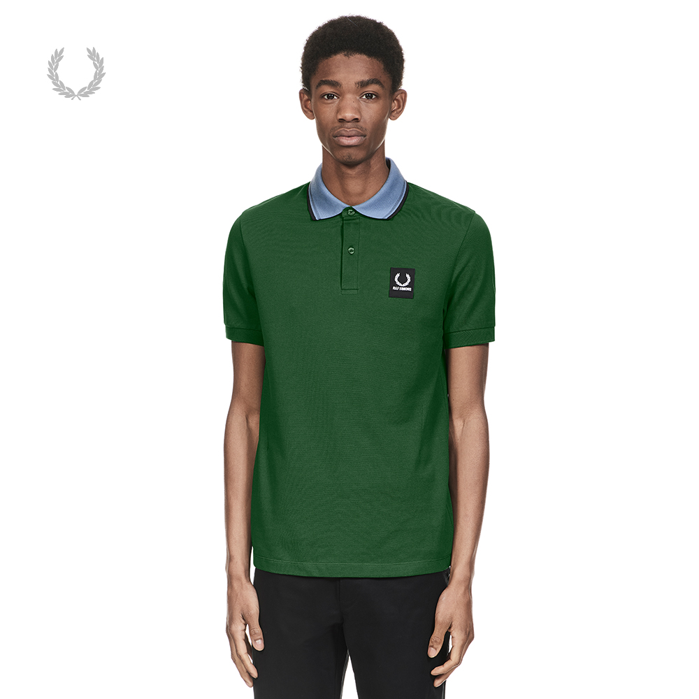 FRED PERRY.Raf Simons男装polo衫2018春季潮流时尚POLO衫M3080MA