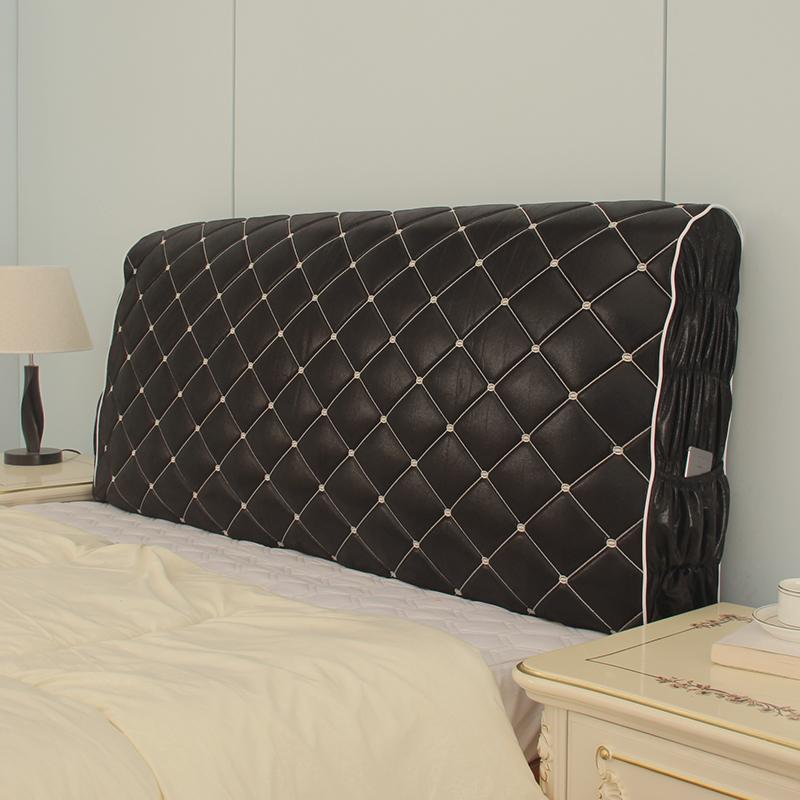 布艺简约现代全包床头套皮床床头罩防尘罩实木软包靠背保护套1.8m107.00元包邮