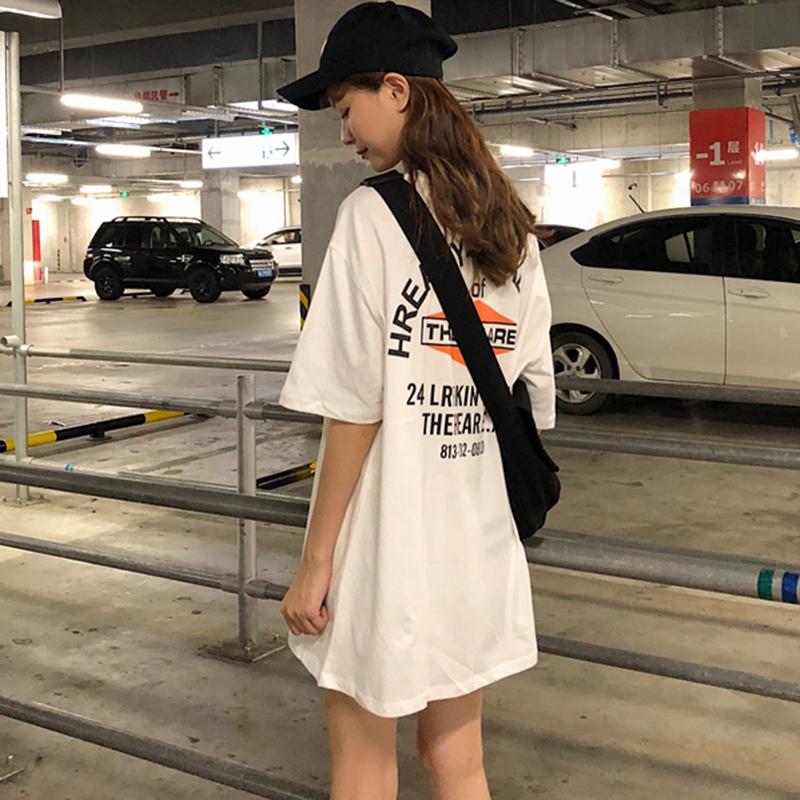 网红白色女短袖ins洋气超火t恤限5000张券