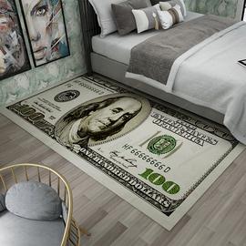 创意长条卧室床边美元地毯长方形个性玄关走廊飘窗防滑地垫可定制
