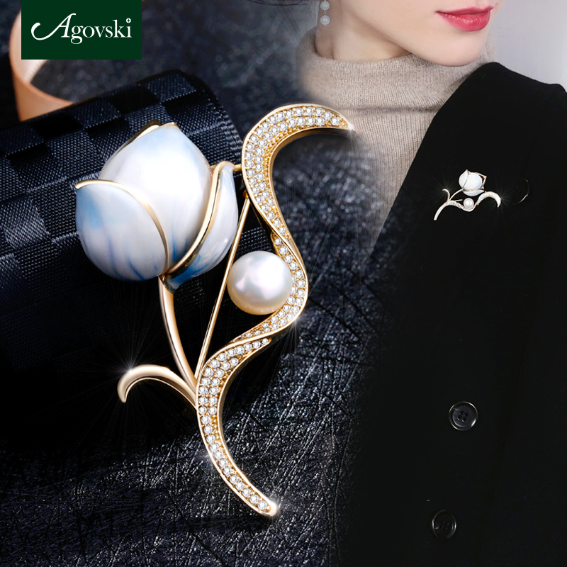 af05f2103a7 South Korean luxury minimalist atmosphere all-match sweater corsage ...