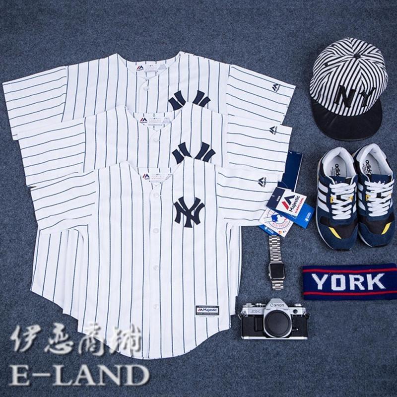 Love Love Shop MLB Бейсбольная одежда NY Нью-Йорк Янки Янки Янкиз детские отцовство для влюбленной пары короткий рукав Футболки