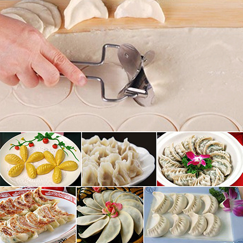 NewStainless Steel Dough Press Dumpling Pie Mould Maker Cook
