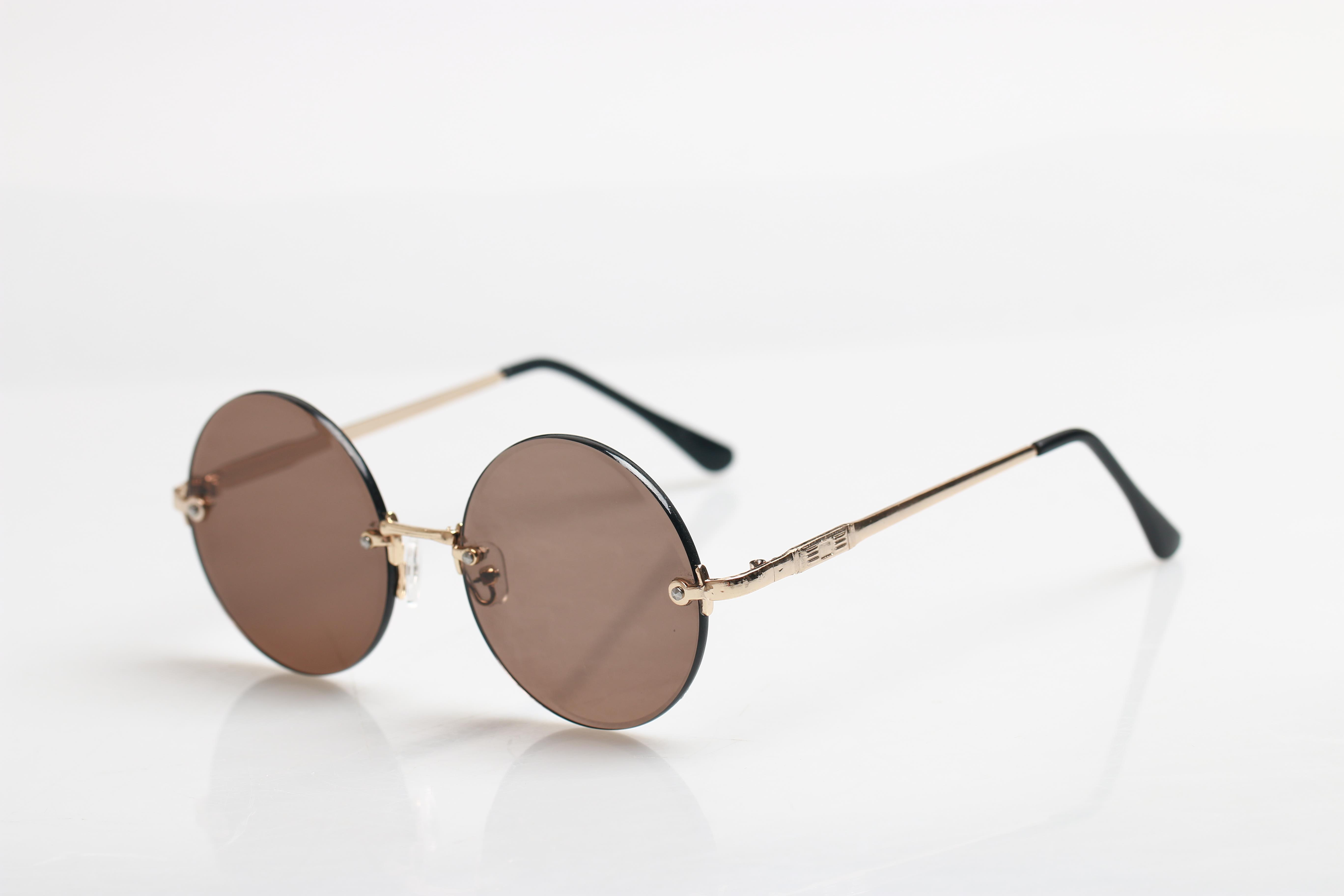 Natural crystal glasses mens crystal sunglasses middle-aged and elderly round stone glasses sunglasses eye care retro glasses