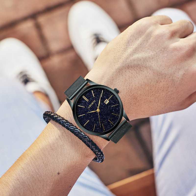 时尚精品手表星空男潮腕表新概念抖音同款2020正品时来运转男生表