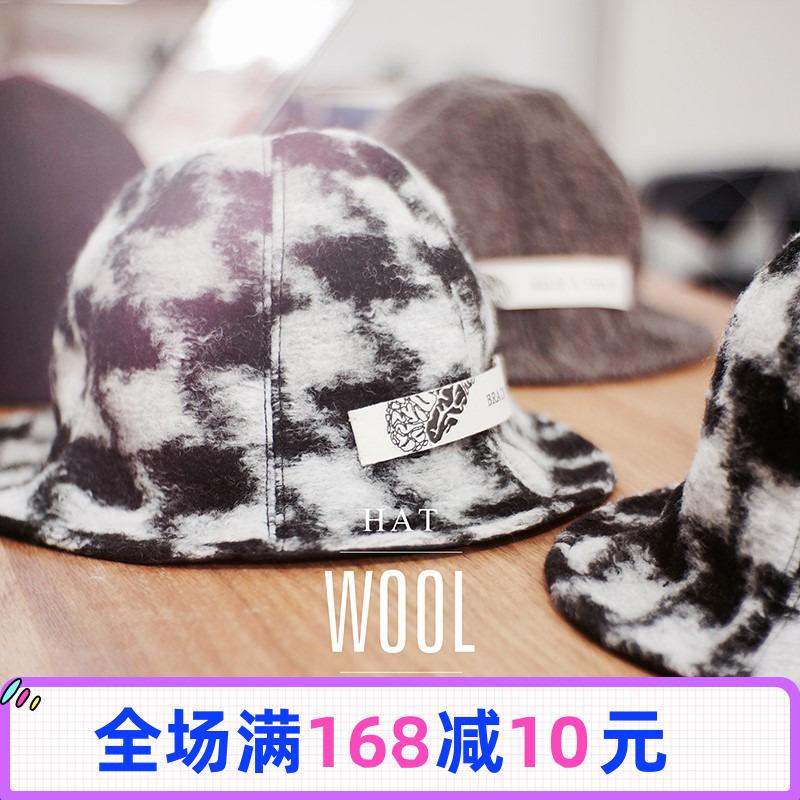 Super large thousand bird jacquard fishermans hat art simple street soft cloth hat tide hat man