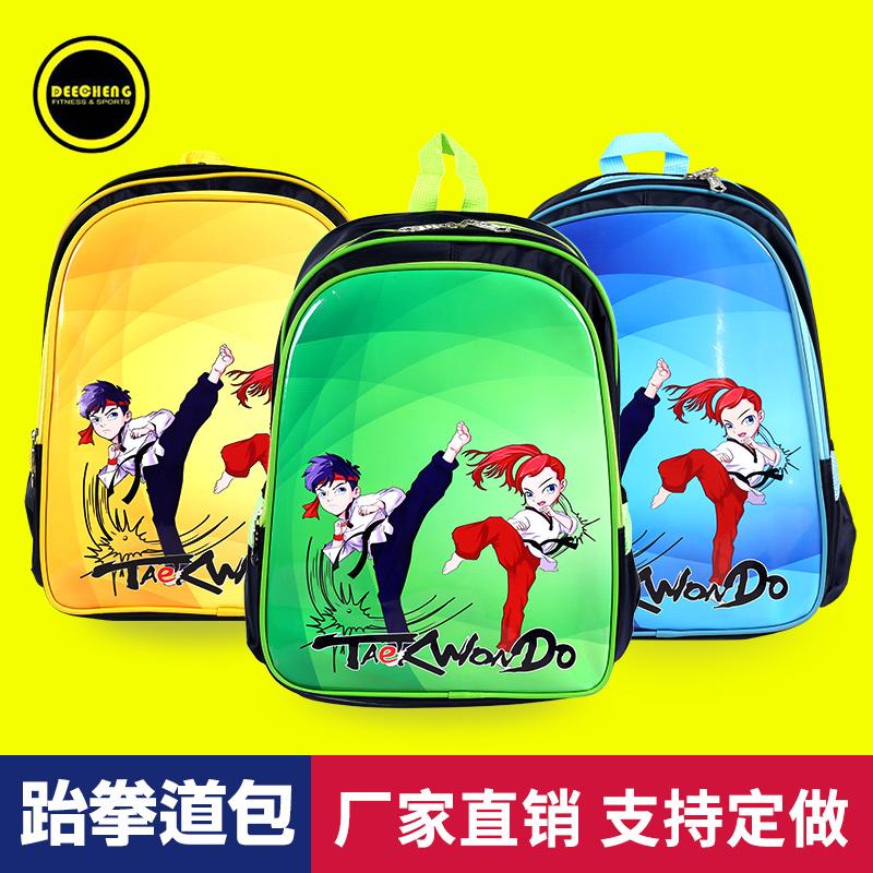 Бесплатная доставка ребенок тхэквондо одежда подарок тхэквондо пакет портфель можно настроить рюкзак пакет тхэквондо статьи