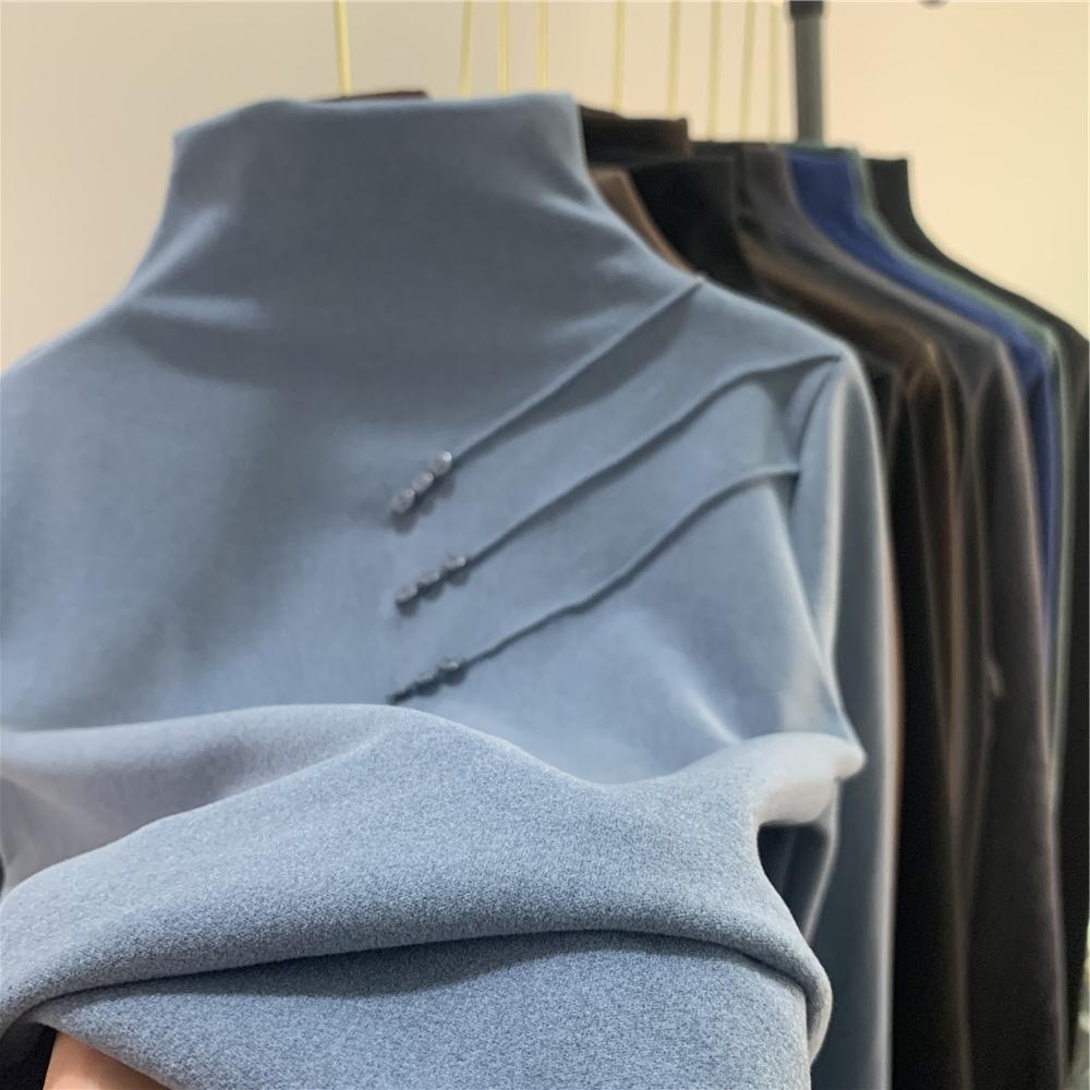 半高领打底衫秋冬新款修身显瘦加绒