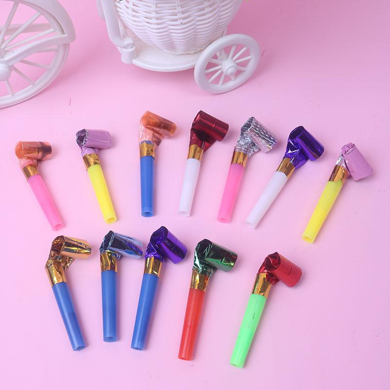 塑料吹龙 6cm 吹吹卷 儿童口哨 生日派对用品助威道具