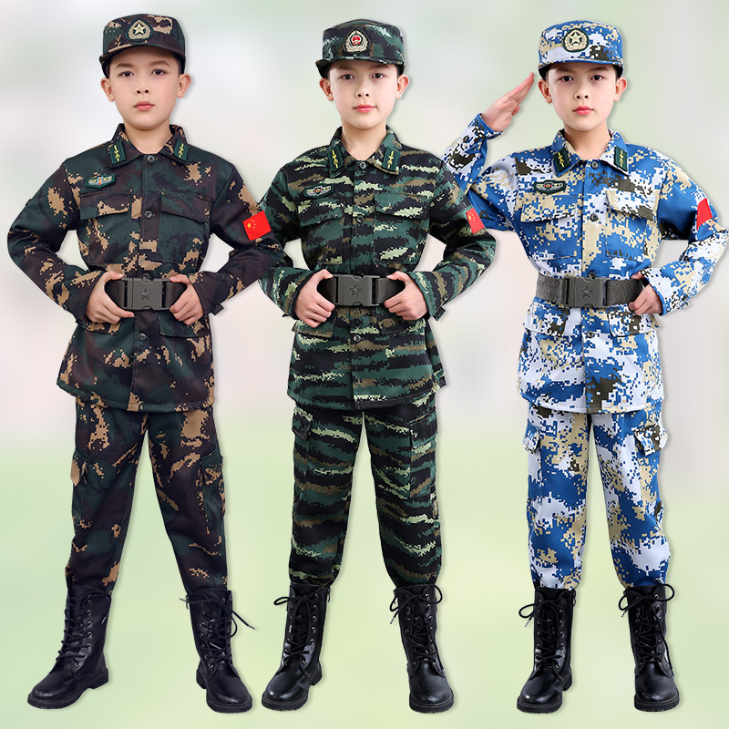 Childrens camouflage suit boys special forces winter thickened girls navy uniform customized military training uniforms for primary and secondary school students