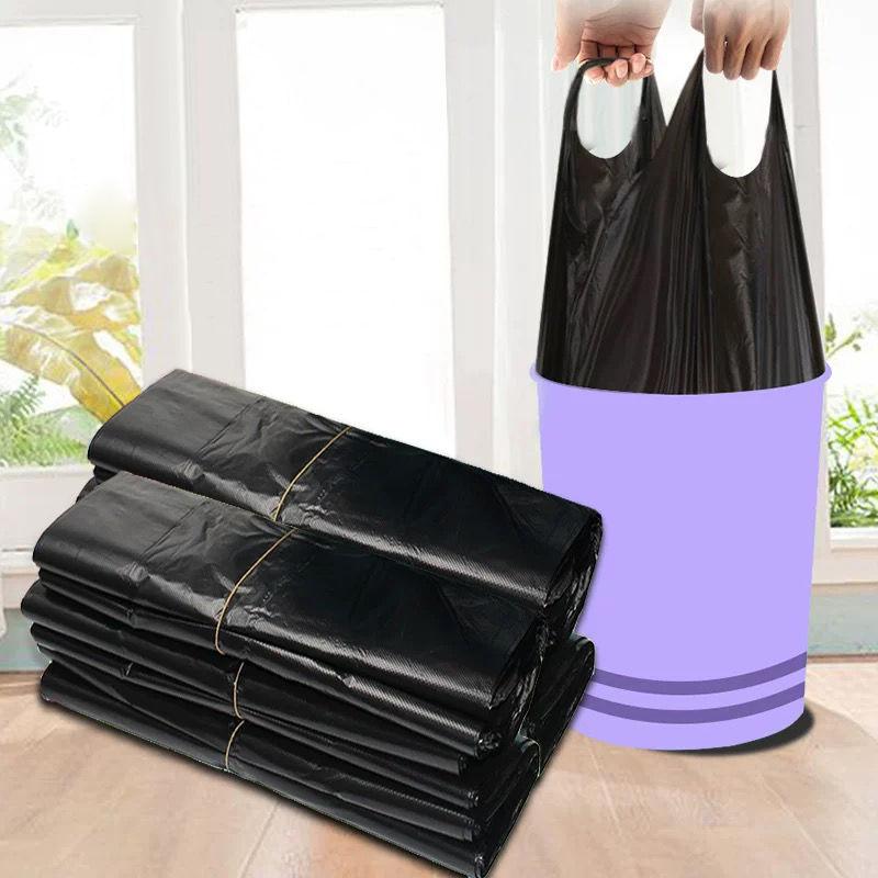 垃圾袋家用加厚手提式背心黑色厨房中大号塑料袋
