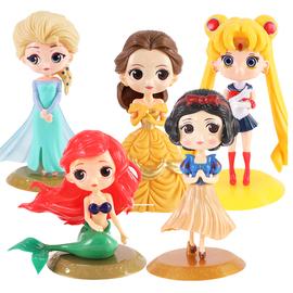 白雪公主贝儿蛋糕装饰摆件儿贝尔美人鱼月亮美女女孩花仙子装饰图片