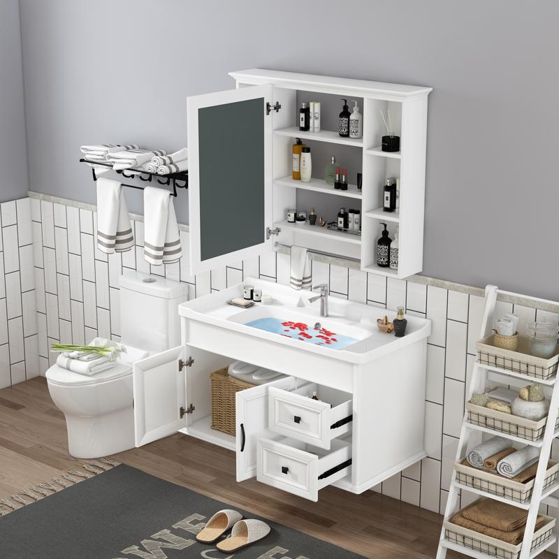 碳纤维小户型北欧现代简约洗手盆柜限10000张券
