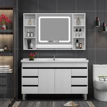 北歐免漆智能浴室鏡柜現代簡約衛生間鏡箱帶燈掛墻式鏡子帶置物架