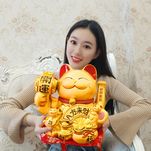 Impression of American Golden Electric Handshake Money Cat Arrangement Large Ceramic Rich Cat Cashier Shop Opening Gift