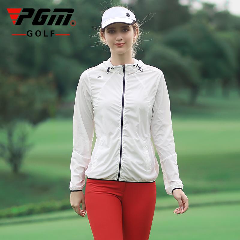 PGM 2021秋冬新品ゴルフレディース長袖帽子とコートの日焼け防止UVソフト保温