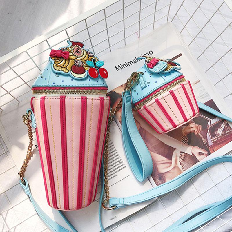 创意冰淇淋小孩子的包包韩版儿童女童包包可爱时尚公主斜挎包范儿