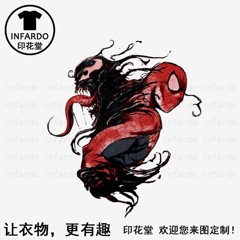 Printing hall waiting for death and venom creative printing T-shirt for boys and girls short sleeve custom sweat absorbing sports clothes