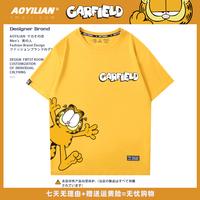 加菲猫联名短袖欧美卡通印花t恤