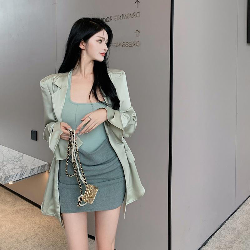 连衣裙高级感套装裙夏季2021年新款大码女装法式洋气防晒衬衫外套