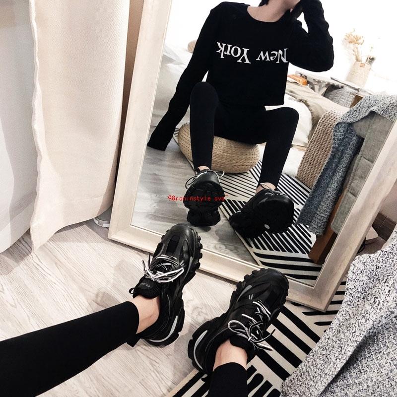 韩国老爹鞋黑色厚底增高帮女2019新款运动休闲鞋阿希哥同款ins潮