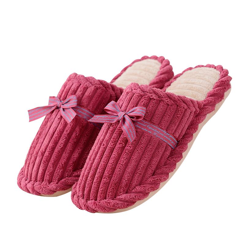 冬季拖鞋女冬居家厚底室内月子保暖毛拖鞋地板防滑情侣月子棉拖鞋