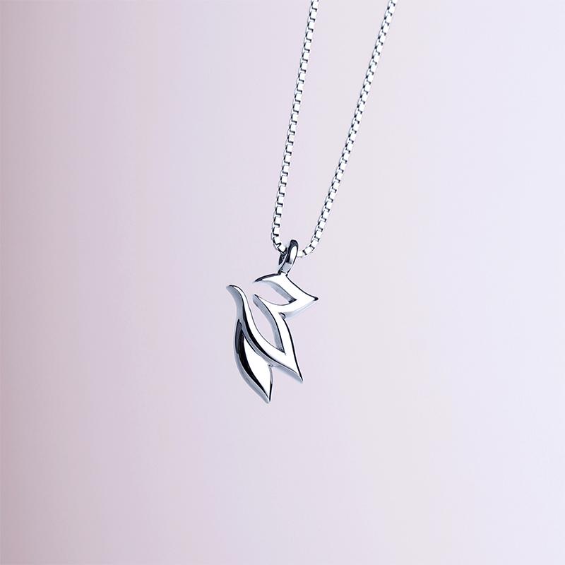 《莲》雨墨之森原创设计十二星座处女座清新小众纯银项链长项链