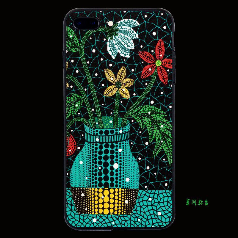 X21草间弥生现代艺术画手机壳iPhoneX苹果8plus保护套6sp 畅享7p