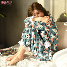Moon clothes Spring and Autumn cotton postpartum women breast-feeding pregnant women pajamas women summer thin suit household clothes