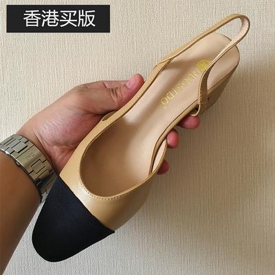 2021新款网红女鞋小香凉鞋小香风单鞋小香鞋网红粗跟高跟鞋女抖音