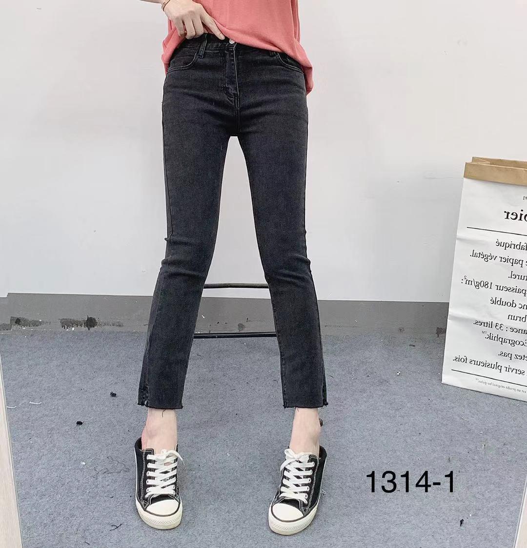 MI CO DENIM1314-1早秋新款韩版百搭修身显瘦简约款直筒牛仔裤女